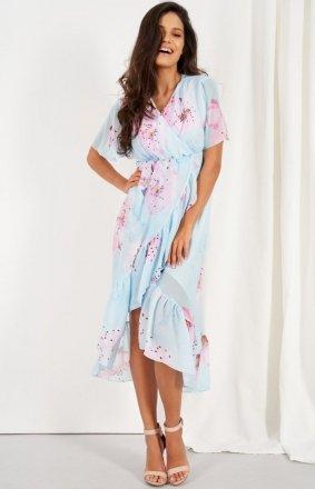 Zwiewna asymetryczna sukienka maxi LG523/D18
