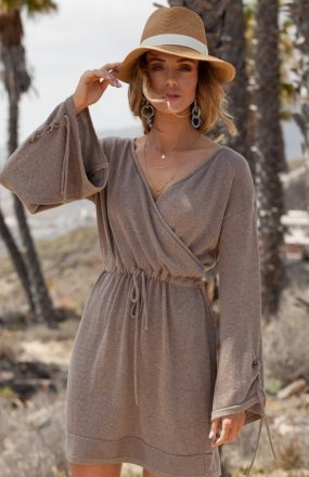 FIMFI I295 sukienka mocca
