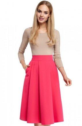 Moe M302 spódnica różowa