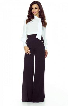 Eleganckie spodnie z szerokimi nogawkami czarne