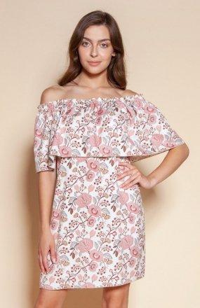 Krótka sukienka hiszpanka różowa SUK201