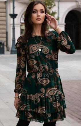 Szyfonowa sukienka wzorzysta 259/D93