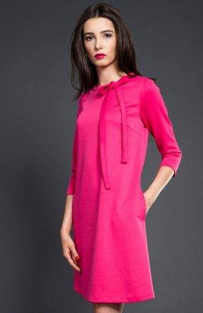 Kasia Miciak design trapezowa sukienka fuksja