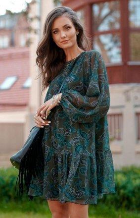 Oversizowa sukienka mini 0299 R82