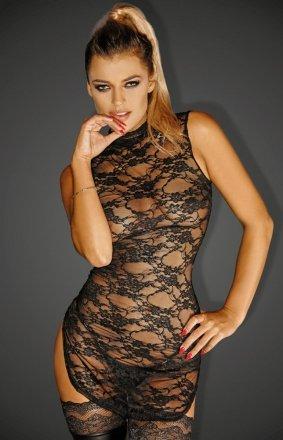 *Koronkowa dopasowana sukienka F128