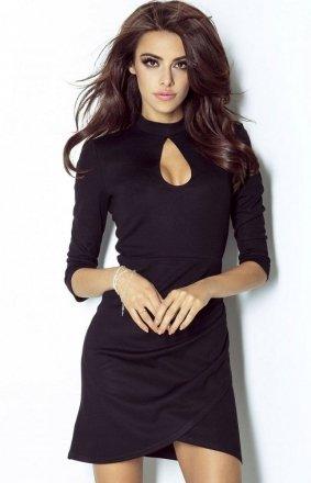 Dopasowana sukienka Simone czarna 210