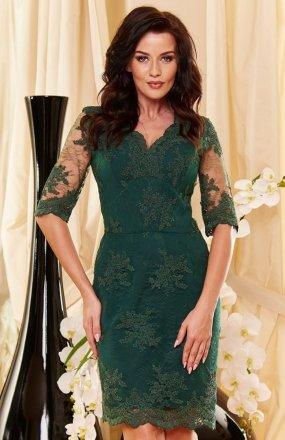 *Roco 0153 sukienka zielona