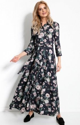 Sukienka maxi w kwiaty F895