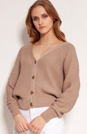 Lekki zapinany sweterek mocca SWE142