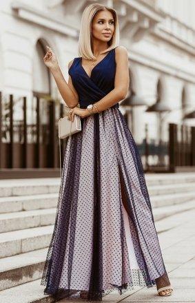 Elegancka długa sukienka Bicotone 2218-18