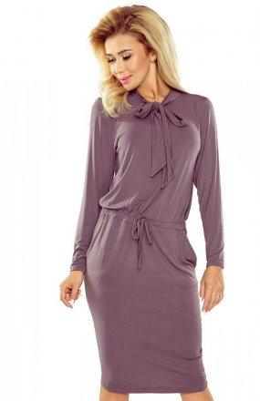 Numoco 171-1 sukienka jasna śliwka