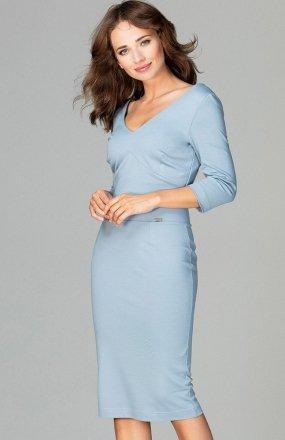 Lenitif K476 sukienka niebieska