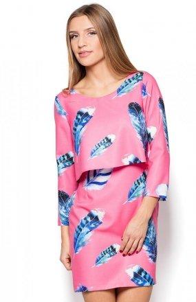 Katrus K426 sukienka różowa