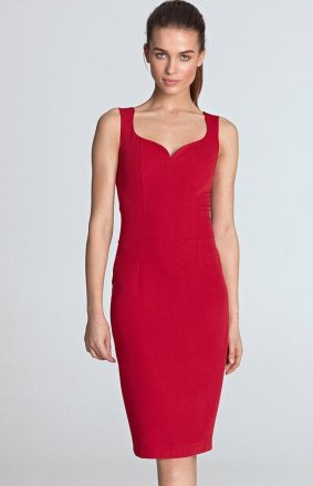 Ołówkowa sukienka z dekoltem S113CZ