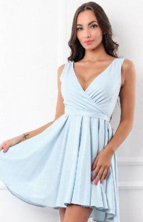 Elegancka błyszcząca sukienka błękitna 2215