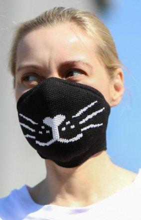 Maseczka z jonami srebra i filtrem black cat