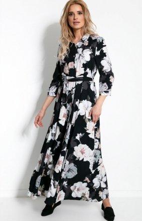 Sukienka maxi w kwiaty F896