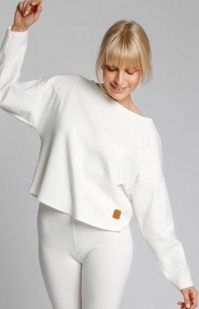 Bawełniana bluza damska ecru LA037