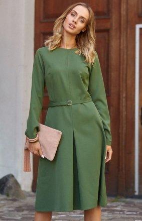 Sukienka M398 zielona Moe