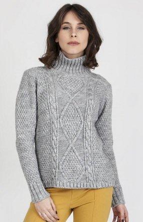 MKMSwetry Sweter Estelle SWE 121 Szary