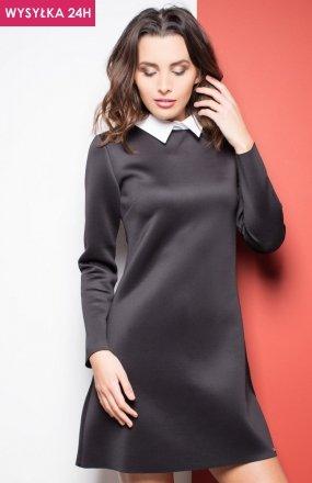 *Katrus K245 sukienka czarny