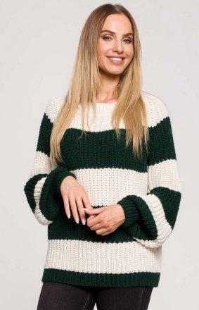 Oversizowy sweter w pasy M632/4