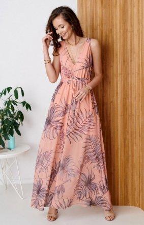 Długa sukienka w kwiatowy print 0287/R50
