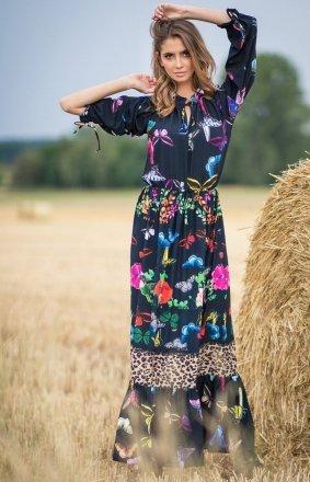 Sukienka maxi w motyle F757