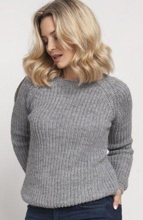Raglanowy sweter szary SWE126