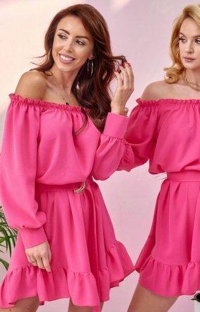 Sukienka w stylu boho różowa 0285