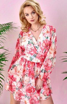 Sukienka z kopertowym dekoltem 0331/U47
