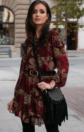 Szyfonowa sukienka wzorzysta 259/D92