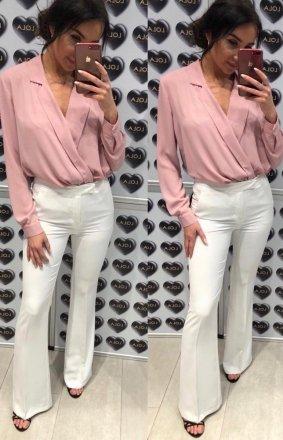 *Rozszerzane spodnie typu dzwony białe