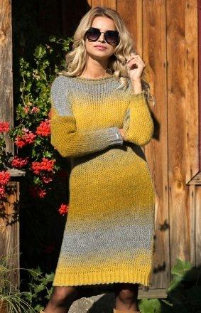 *Fobya F579 sukienka żółty