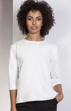 Luźna bluzka - frak ecru BLU140