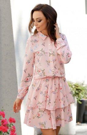 *Lemoniade L281 sukienka pudrowy róż