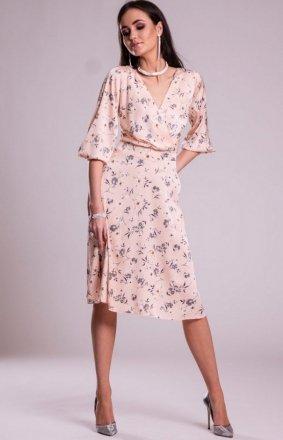 Modna sukienka w kwiaty 0244 S11