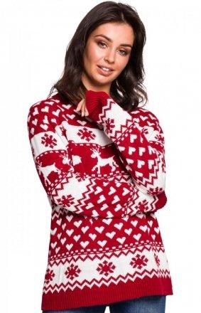 Świąteczny sweter w renifery BK039/1