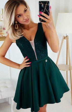 Wieczorowa sukienka z wiązaniem 2196-13