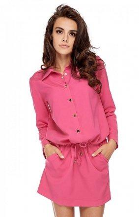 Koszulowa sukienka Calpe fuksja