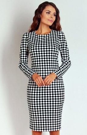 Nommo NA124 sukienka szachownica