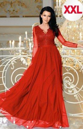 *Bicotone 2167-02 MAXI sukienka czerwona