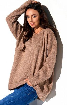 Oversizowy karmelowy sweter LS275