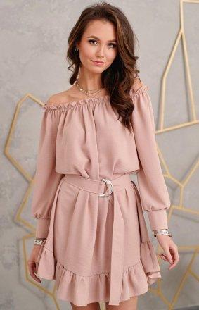 *Sukienka w stylu boho brudny róż 0285
