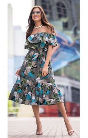*Kobieca sukienka hiszpanka midi