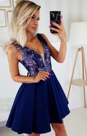 Wieczorowa sukienka z wiązaniem 2196-11
