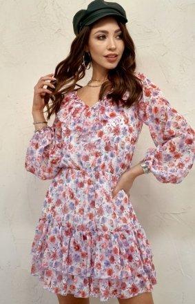 Szyfonowa sukienka w kwiaty 0324/U28