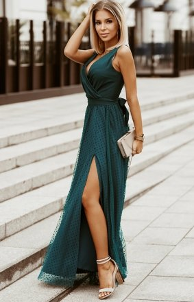 Elegancka długa sukienka Bicotone 2218-13