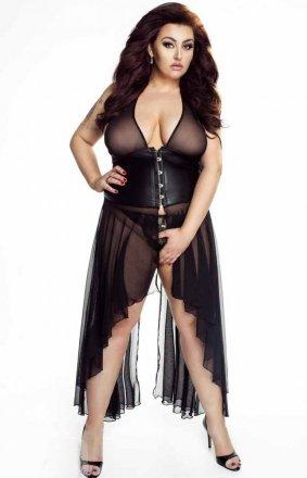 Erotyczna długa sukienka F047