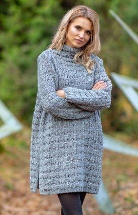 Fobya F599 sukienka sweterkowa szara
